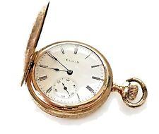 Antique Elgin 14K Hunter Solid Gold Case Pocket Watch Circa 1911