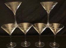 Set of 6 Cristal D' Arques -  Pattern CRA106 Martini Glass