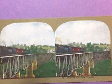Antique Stereo View Card Famous Southern Trestle w/ Train   #57