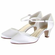 Mary Janes Low Heel (0.5-1.5 in.) Satin Bridal Shoes