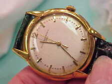 VINTAGE 18K SOLID GOLD VACHERON & CONSTANTIN MAN'S WATCH LEATHER BAND RARE