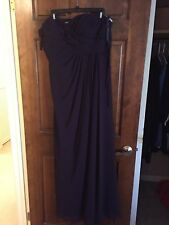 David's Bridal plum purple bridesmaid dress size 16