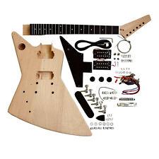 E-Gitarre Selbermachen Linkshändig Set Explb Schwarz Zubehör