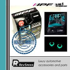 IPF H4 Japan Halogen Bulbs H4 5000K Glowing Blue Halo Illuminated Ring 55W=110W