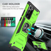 Armor Case For Samsung Note 20 98 S20 Ultra Plus S10 Kickstand Ring Holder Cover