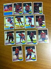 TOPPS HOCKEY 1980-81 LOT OF 14 MONTREAL CANADIENS CARDS EXCELLENT