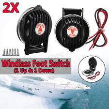 Pair Up & Down Black Marine Windlass Foot Switch Compact For Boat Anchor