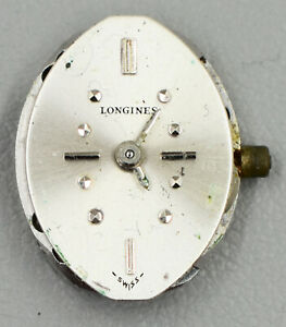 Longines 410 17j Unadjusted Watch Movement Missing Crown For Parts Or Repair