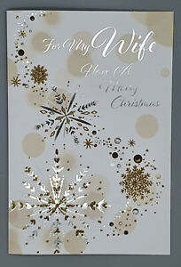 Wife Christmas Card, For My Wife With Love Xmas Card Merry Christmas