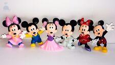 6pcs Disney Mickey Mouse Family Mini Dolls Resin Character Figures Toy Miniature