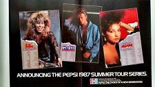 TINA TURNER & DAVID B. GLORIA PEPSI TOUR '87 RARE ORIGINAL PRINT PROMO POSTER AD
