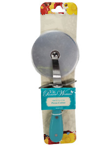 NEW Pioneer Woman Frontier Collection Blue Pizza Cutter Wheel Stainless Steel