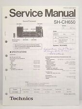 Technics Original Service Manual SH-CH650 Sound Processor