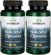 200 Caps Swanson NAC N-Acetyl Cysteine 600mg Liver Health Antioxidant + Bonus