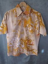 60's Surf Line for Liberty House Reverse Print Pull Over Hawaiian Shirt Size L