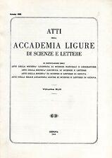 ATTI DELLA ACCADEMIA LIGURE DI SCIENZE E LETTERE 1988 VOL.XLIII