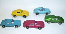 Set of Five Vintage Toy Steel Cars