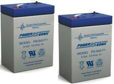 Power-Sonic 2 Pack - BATTERY 6V 6 VOLT SLA VRLA RECHARGEABLE 4, 4.5,5 AH