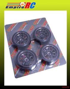 TOPCAD 71027 Drift Wheel & Tire (9-Spoke) CHROME (+7mm) FOR 1/10 Tamiya/HPI/HSP
