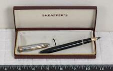 Vintage Sheaffer Fountain Pen Black w/ 14k Gold Nib & Box g25
