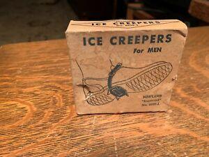 Vintage Nor'land Mens Diamond Ice Creepers 6030-1 Box