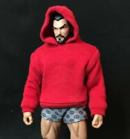 SU-SS-R: 1/12 FIGLot Fabric Hoodie for Mezco One:12 Marvel Legends Figure - Red