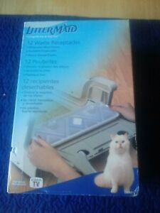 Littermaid Waste Receptacles 12 Pack Reusable Disposable Plastic Cat Waste New