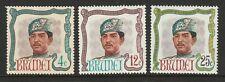 Brunei 1968 Sultan's Birthday set SG 154-156 Mnh.