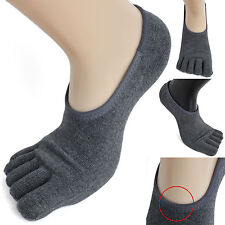 3 Pairs Mens Cotton Low Cut Toe Socks Ideal Gray fivefingers Sneakers Shoes