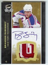 2007-08 THE CUP BRANDON DUBINSKY AUTO PATCH 38/54 GOLD #147 RC JERSEY RAINBOW