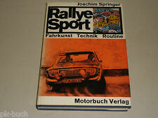 Motorsport-Buch: Rallye Sport - Fahrkunst Technik Routine, von Joachim Springer