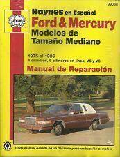 HAYNES en Espagnol - FORD & MERCURY de 1975 à 1986
