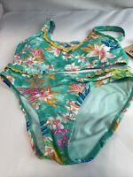 Hobie Sea Bathing Suit FLOWER 2 PIECE SWIM SUIT NEW SIZE 10