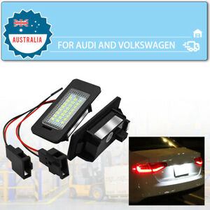 Fits For Audi A4 S4 B8 A5 S5 Q5 VW PASSAT LED License Number Plate Lights Canbus