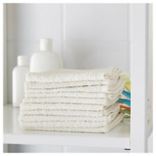 New IKEA Krama New White Cotton Facecloth Flannels – Baby Face Wash Cloth 10pcs