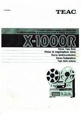 Owner's Manual /Bedienungsanleitung für Teac X-1000R