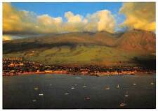 USA Hawaii Historical Lahaina from the Air off Shore Boats Bateaux