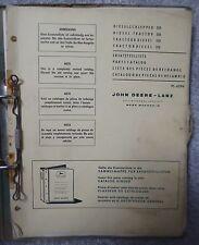 John Deere Lanz Dieselschlepper 510 Ersatzteilkatalog