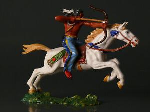 Elastolin 7 cm - Indianer zu Pferd