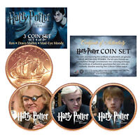 Harry Potter DEATHLY HALLOWS Colorized British Halfpenny 3-Coin Set (Set 4 of 6)