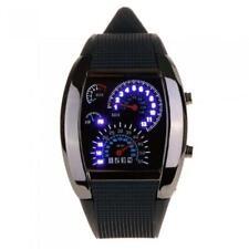 Men Sports LED wrist watch black speedometer dashboard car quartz LED display