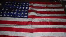 "Original WW2 48 Star United States Flag 10 x 16"" Silk Flag Excellent Condition"