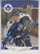 Autographed 90/91 Pro Set Gary Leeman - Maple Leafs