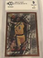 1996-97 Kobe Bryant Topps Finest #74 Beckett BCCG 9 W/ Coating