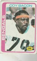 FREE SHIPPING-FAIR TO POOR-1978 Topps  #135 Coy Bacon BENGALS