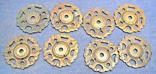 Old brass round decorative backplates   x  8