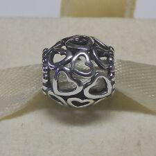 New Authentic Pandora Charm Open Heart Valentine 790964 Bead Tag & Box Included
