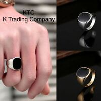 Men's Ring Silver Gold Fashion Stainless Steel Signet Bad Boy Ring New - Canada