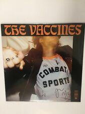 The Vaccines, Combat Sports, NEW/MINT Original UK vinyl LP in HAND SIGNED SLEEVE