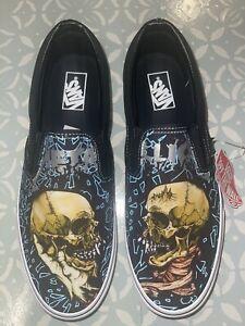 Vans x Metallica Classic Slip On Sneaker Shoe Men's Size 11